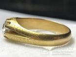 Золотое кольцо с бриллиантом 56 пробы Российская Империя, фото №11