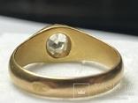 Золотое кольцо с бриллиантом 56 пробы Российская Империя, фото №12
