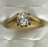 Золотое кольцо с бриллиантом 56 пробы Российская Империя, фото №13