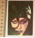 Календарик: девушка, Make Up, Fashion, 1992 г. / макияж, мода, фото №2