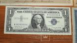 4 банкноты 1910,1919,1957 год доллар1957g777, фото №7