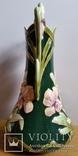 Ваза, майоліка, Франція, Н30х16,5 см, фото №3