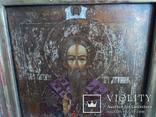 Икона Св. Антипий в киотной раме, фото №4