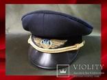 1113 Фуражка, летчик, гражданская авиация, Украина, 57-й размер, фото №2