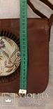 Шкіряна сумка із вставками гобелену, фото №11