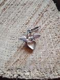 Подвес Ангел на сердце серебро, фото №3