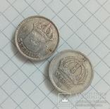 Швеция 25 эре 1934-1945г серебро, фото №5