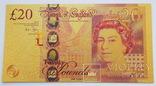 Великобритания. Банкнота 20 фунтов. Копия, фото №2