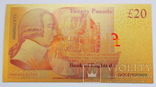 Великобритания. Банкнота 20 фунтов. Копия, фото №3