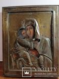 Икона Владимирская Богородица в окладе, фото №2