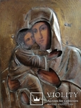 Икона Владимирская Богородица в окладе, фото №8