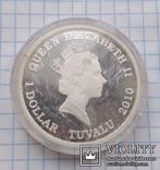 1 доллар 2010 год Тувалу, Фредерик Шопен из серии «Великие Композиторы», фото №4