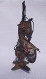 Серебряный парусник, скань, эмаль., фото №5