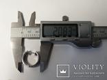 Набор серьги с кольцом 925 пробы с перламутровыми вставками 26,43 гр, фото №5