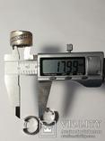 Набор серьги с кольцом 925 пробы с перламутровыми вставками 26,43 гр, фото №6