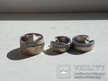 Набор серьги с кольцом 925 пробы с перламутровыми вставками 26,43 гр, фото №10