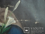 """Богородица"" икона на холсте., фото №11"