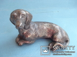 Статуэтка собаки, серебро., фото №2