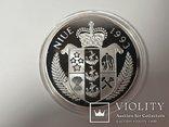 Монета 50 Dollars, 5 унций серебро 1993 Niue 1993 John F. Kennedy Apollo, фото №2