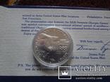 1 доллар 1983  D  США серебро, фото №5