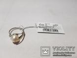 Комплект Серебряные серьги и кольцо с золотыми вставками, фото №8