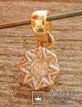 Кулон с бриллиантом 0,1 карат, золото 375 пробы, Италия, фото №6