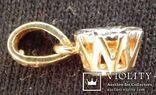 Кулон с бриллиантом 0,1 карат, золото 375 пробы, Италия, фото №8