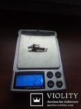 Брошь с натуральными бриллиантами и изумрудами, фото №3