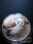 Панда Китай 10 юаней 2020 г. унция серебро 999 пробы , 30 гр., фото №2