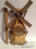 Винтажный барометр мельница, фото №2
