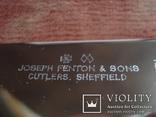 Joseph Fenton & Sons Ltd Sheffield набор столовых ножней., фото №8