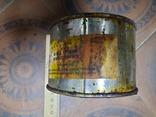 Краска масляная СССР жестебанка 750 гр Свинцовая желтая, фото №8