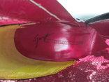 Ботинки VICINI p.39. Италия. кожа + гипюр. шпилька., фото №8
