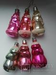 Елочные игрушки Дед Мороз и Снегурочка (6 штук), фото №6