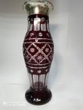 Большая хрустальная ваза в серебре, фото №2