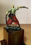 Запорожский казак, 16-18 вв. (оловянная миниатюра), фото №5