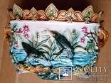 Жардіньєрка, майоліка, Франція, Н23x36x23 см, фото №2