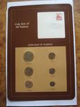 Норвегия набор монет UNC в капсулах на планшете с маркой, запайка, блистер, фото №2