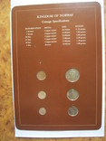 Норвегия набор монет UNC в капсулах на планшете с маркой, запайка, блистер, фото №3
