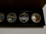 Набор из 5 монет - Открой Австралию - 2006 год, серебро 999, футляр, сертификаты, фото №4