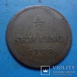 1|2 скиллинга 1799 Дания (5.4.3), фото №2