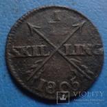 1/12 скиллинга 1799  Дания  (5.4.6) ~, фото №2