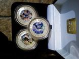 Три срібних монети 2 доллара, фото №3