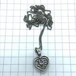 Подвес сердце серебро на цепочке, фото №5