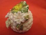 Шкатулка - Виноградная гроздь и цветы - фарфор - Италия., фото №6