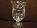 Ваза - кубок - Тюльпан - хрустальное стекло- высота 18 см., фото №3