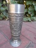 Набор бокалов 5 + рюмка Пищевое олово Европа  ( вес 2,400 ), фото №7