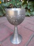 Набор бокалов 5 + рюмка Пищевое олово Европа  ( вес 2,400 ), фото №10
