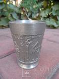 Набор бокалов 5 + рюмка Пищевое олово Европа  ( вес 2,400 ), фото №11