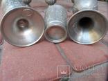 Набор бокалов 5 + рюмка Пищевое олово Европа  ( вес 2,400 ), фото №13